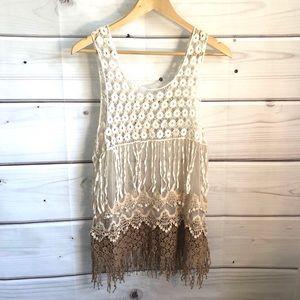 Tops - Crochet tunic top